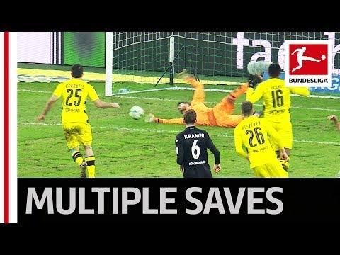 Dortmund's Bürki & Sokratis - 4 Saves in 5 Seconds