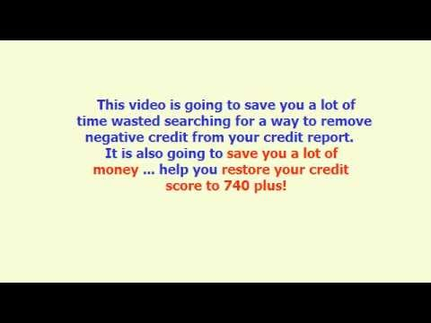Remove Negative Credit - Learn the Easiest Way to Remove Negative Credit FAST