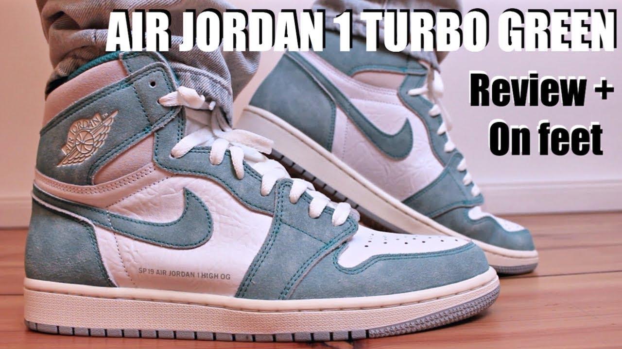 354c316a32c6e7 AIR JORDAN 1 TURBO GREEN REVIEW + ON FEET - YouTube