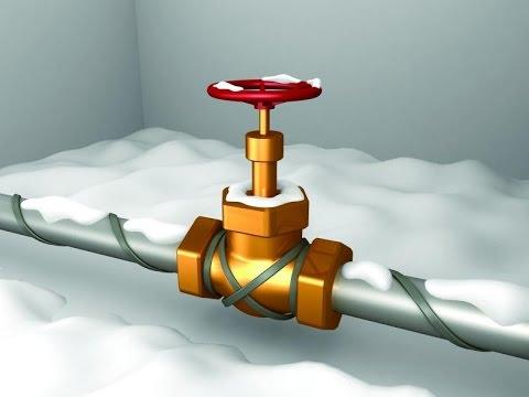 Установка греющего кабеля для обогрева водопровода своими руками