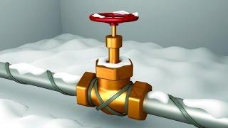 видео Подогрев водопроводной трубы: монтаж кабеля