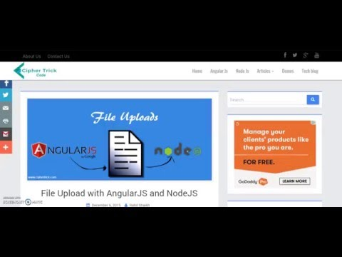 File Upload with AngularJS and NodeJS (Demo only) - YouTube