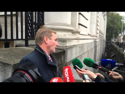 Taoiseach and his Finance and Public Expenditure Ministers arrive ahead of #budget15
