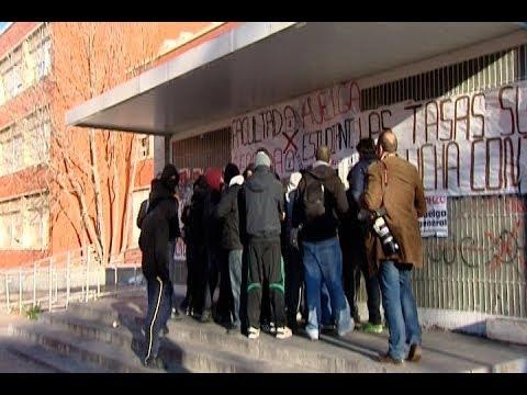 Barricadas en la Universidad Complutense de Madrid