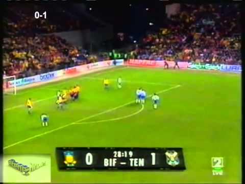 1997 03 18 CUARTOS Brondby 0 Tenerife 2 Copa de la UEFA