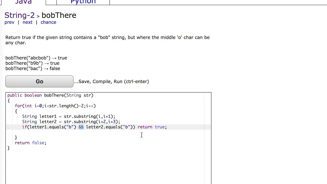 Codingbat Strings