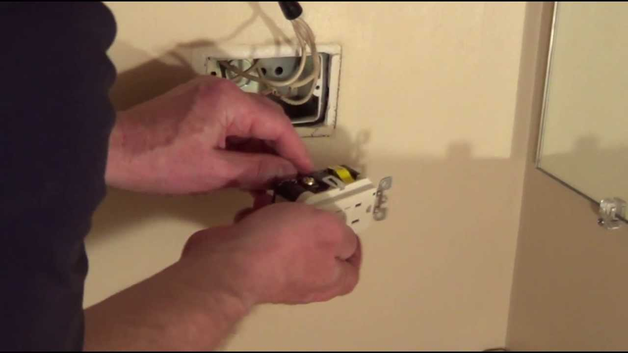 Bathroom Outlet Replace With Gfci Conduit Youtube Wiring A Switch From