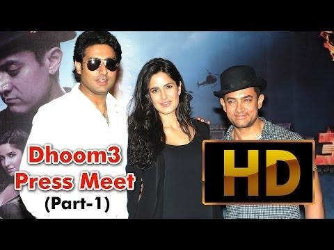 Dhoom 3  Press Meet ( Part - 1) l Aamir Khan l Abhishek Bachchan l Katrina Kaif l Uday Chopra