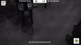 Carrom Worldcup Korea 2018 - Men s Singles Final - Riyaz Akbarali vs Prashant More