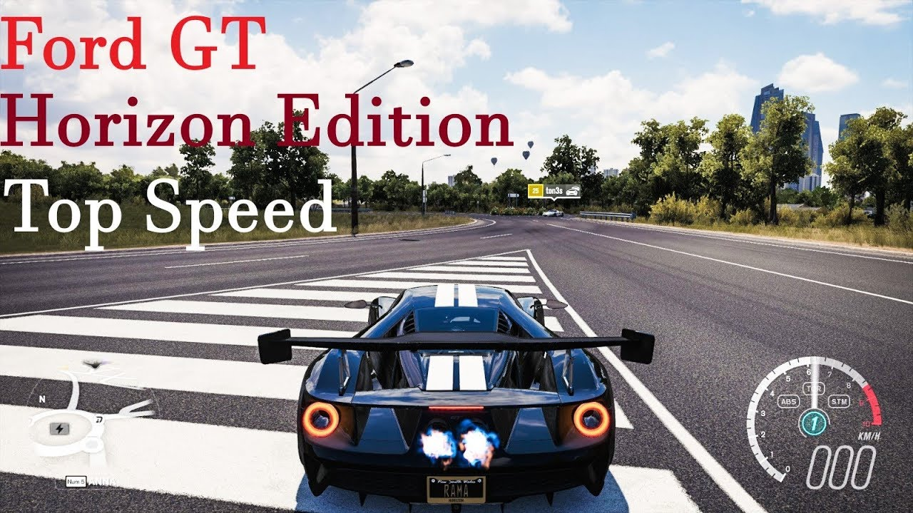 Forza Horizon  Ford Gt Horizon Edition Top Speed