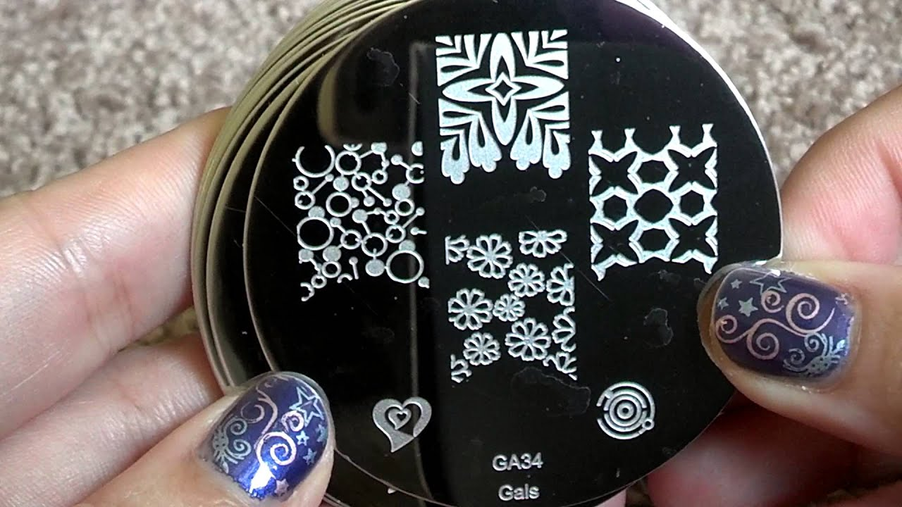GALS -Fairy Nail Plate set Close up - YouTube