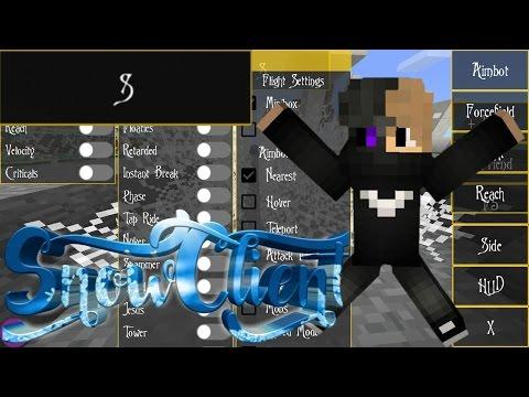 SNOW HACK CLIENT!!   Minecraft Pocket Edition