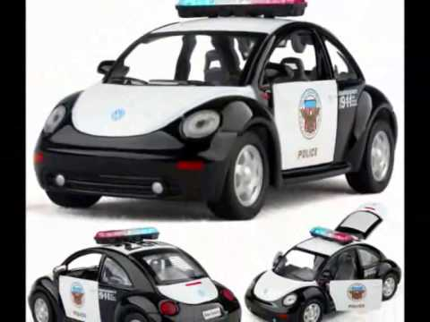 Volkswagen Beetle Coche De Policia Juguete Para Ninos Youtube