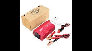 AUKEY Wechselrichter 300W, 12V auf 230V mit 2 USB Ports, 1 Steckdose und Zigarettenanzünder Stecker