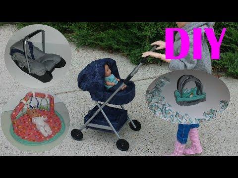 5 DIY Baby Miniatures - Baby Stroller,Play Mat, etc
