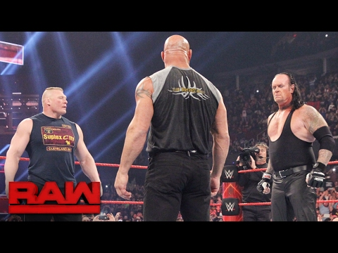 Brock Lesnar goes face-to-face with Goldberg and The Undertaker: Raw, Jan. 23, 2017 thumbnail
