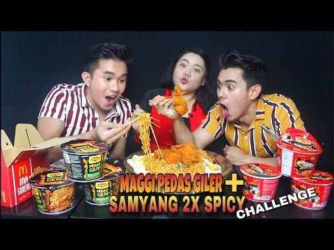 MAGGI PEDAS GILER + SAMYANG 2X SPICY CHALLENGE