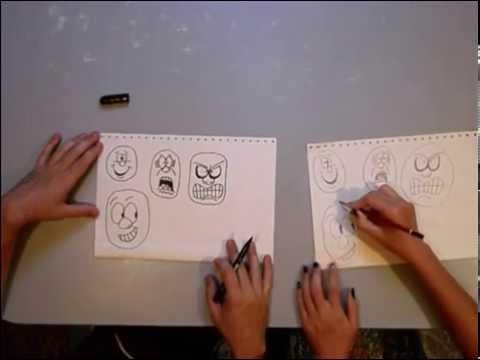 Как нарисовать радость и гнев