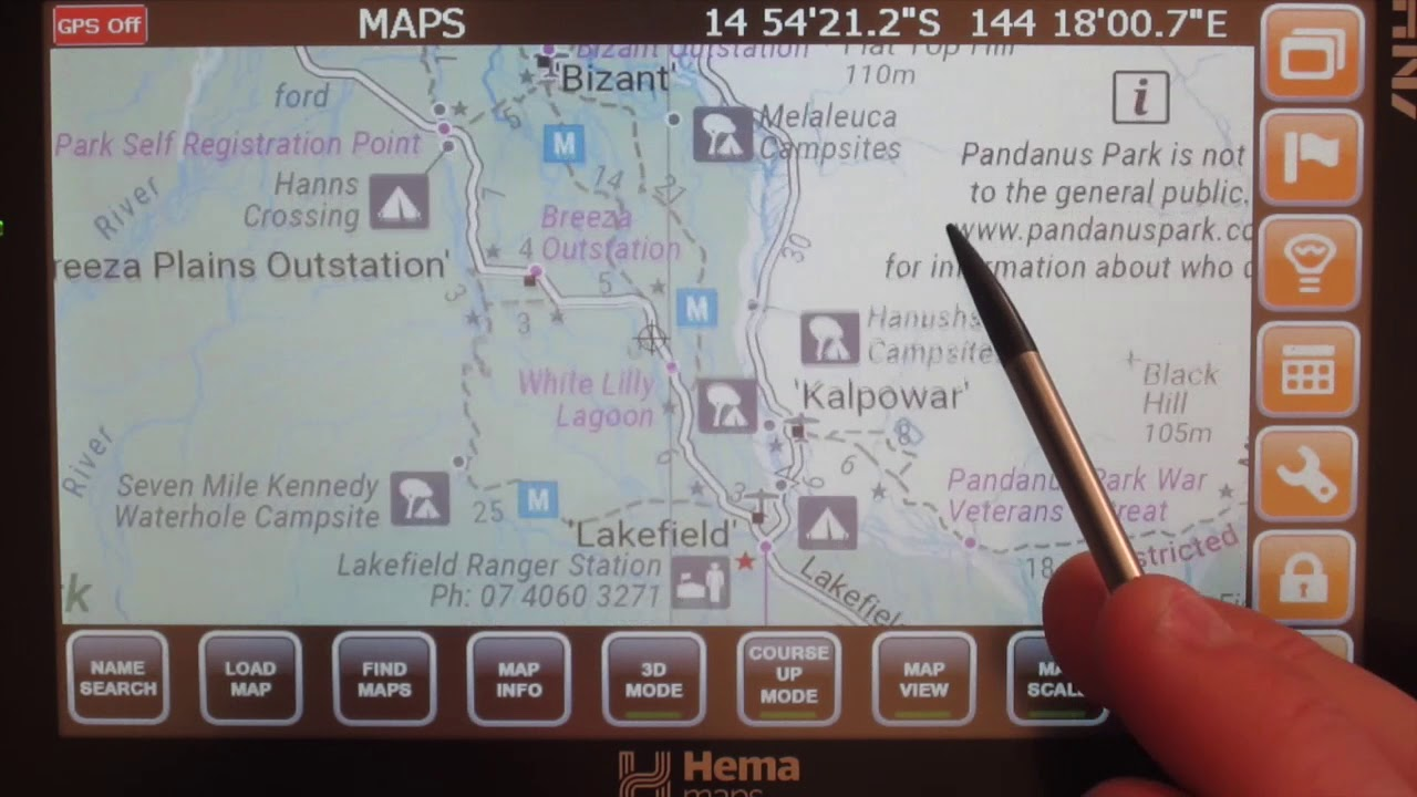 How to load maps in the navigator 40