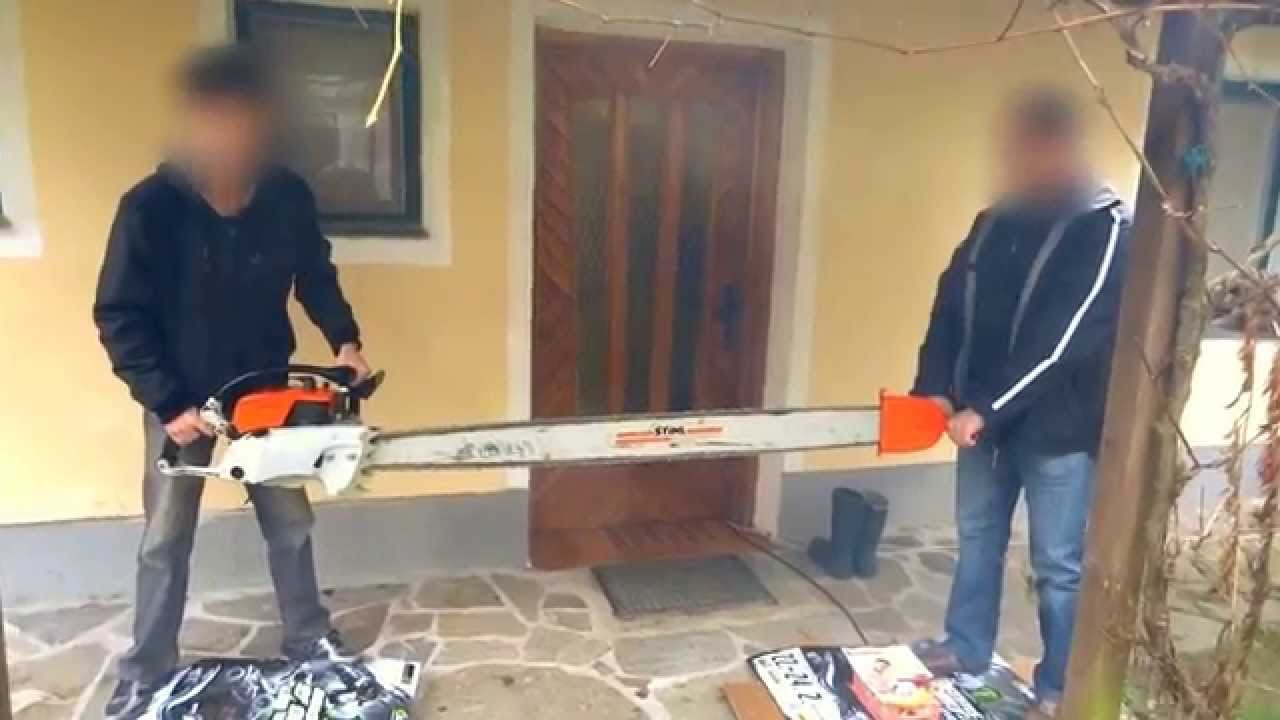 2 Person Saw : Big stihl av zweimann motorsÄge two man chain saw