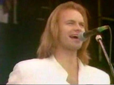 STING - If You Love Somebody Set Them Free (Rare Live 80s w / lyrics)