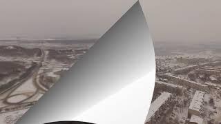 Зимний и пасмурный Лесозаводск