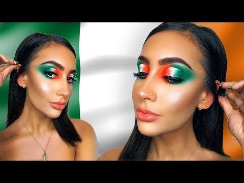 ST PATRICKS DAY / IRISH FLAG MAKEUP LOOK | Makeup By Emma Brown