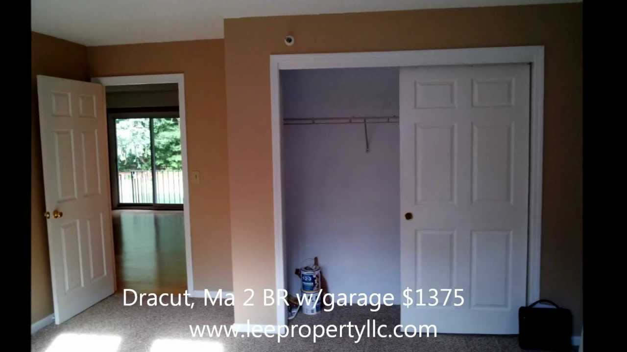 Dracut, Ma 2 BR Condo W/garage W/D Hookups Storage And More READY NOW!
