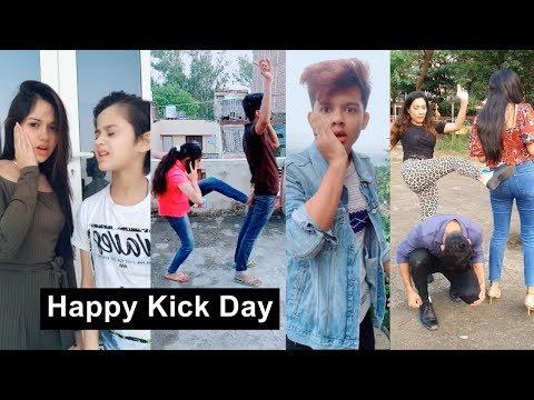 Happy Kick Day Tiktok Videos |  Neha Kakkar, Awez, Jannat, Riyaz, Arishfa, Lucky Dancer