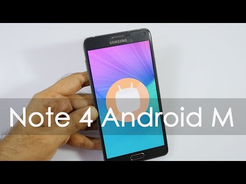Samsung Galaxy Note 4 Android Marshmallow Update