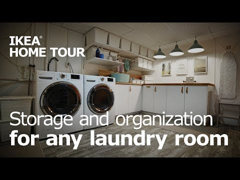 Laundry Room Organization & Storage - IKEA Home Tour (Episode 408)