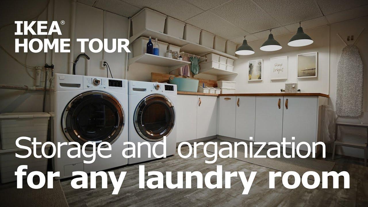 Laundry Room Organization & Storage - IKEA Home Tour (Episode 17)