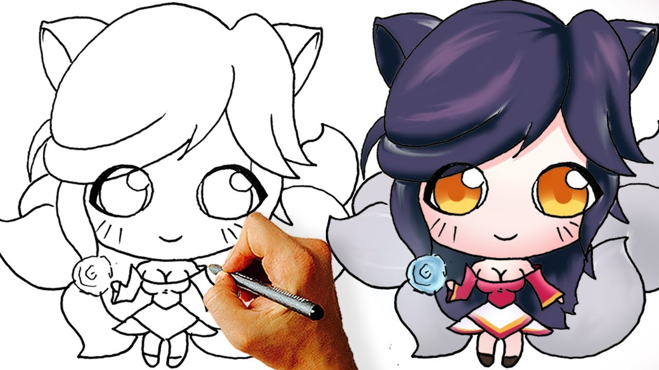 How to Draw Cute Chibi Ahri from League of Legends