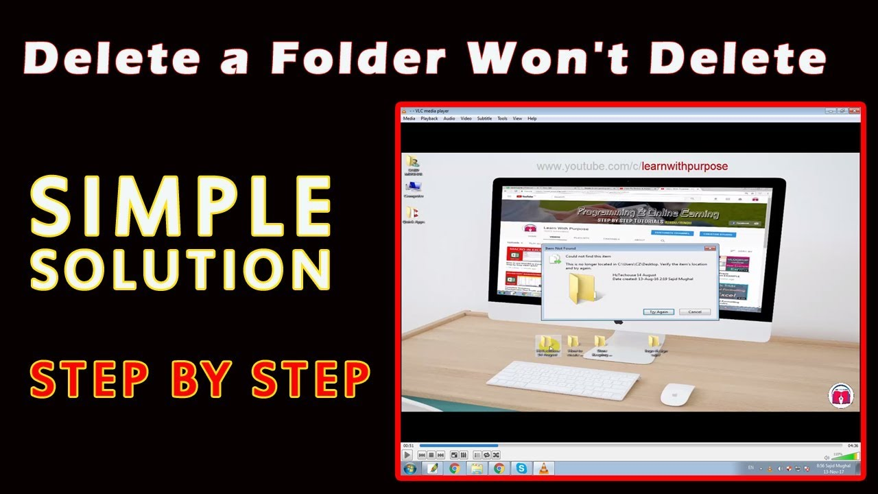 How To Delete A Folder That Won't Delete [SIMPLE SOLUTION ...