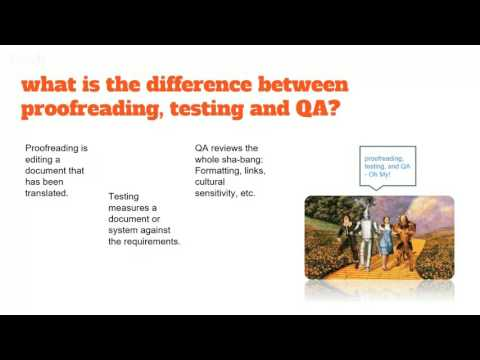 Let's Talk Proofreading, Testing, and QA