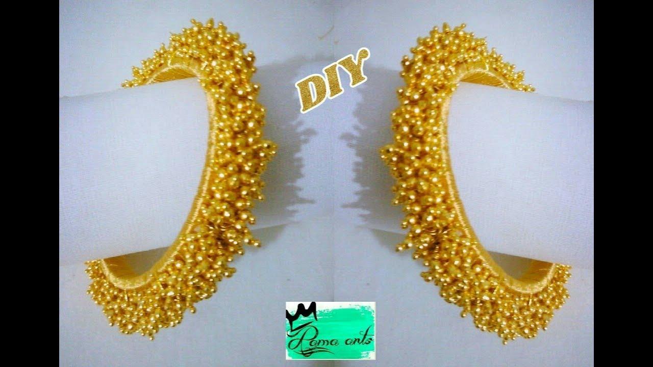 edaf1b6a3b Silk thread Loreal bangle - How to make this bangle | jewellery tutorials
