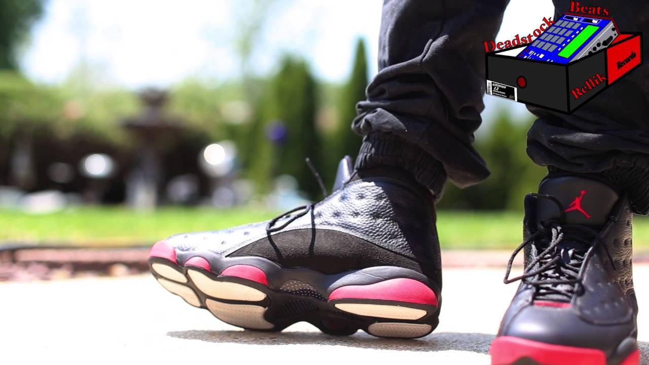 Air Jordan 13 Dirty Bred On Feet - YouTube