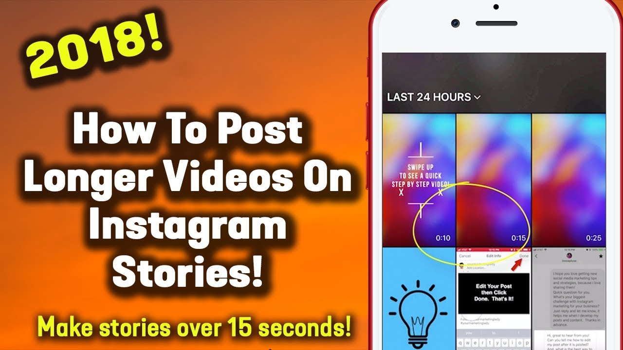 How to upload a video longer than 15 seconds on instagram story