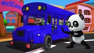 Колеса на автобусе | Ребенок бао панда | Рифмы для детей | Baby Bao Panda | Wheels on the Bus