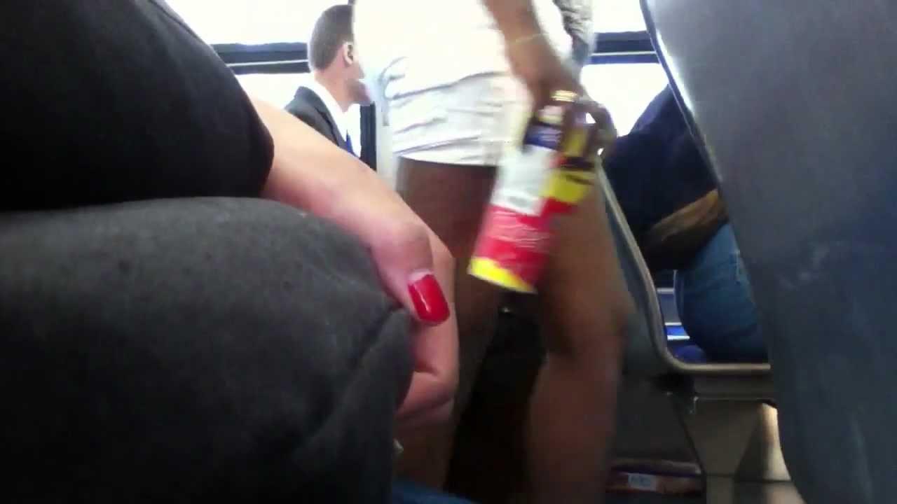 Touch dicks bus metro train public amateur encoxada