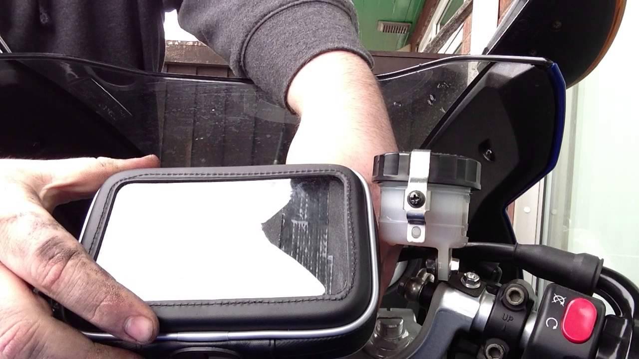 ram mount sat nav solution for a motorbike. - youtube