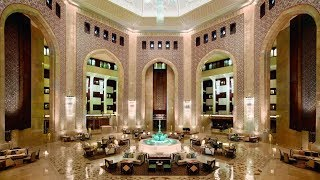 Al Bustan Palace, a Ritz-Carlton Hotel (Muscat, Oman):  impressions & review (STUNNING lobby!)