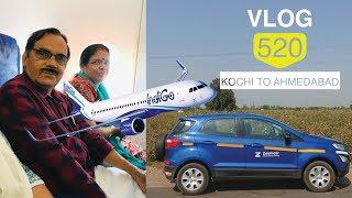 അച്ഛൻ & അമ്മ ആദ്യ വിമാനയാത്ര - Kochi to Ahmedabad & how to book Zoomcar?