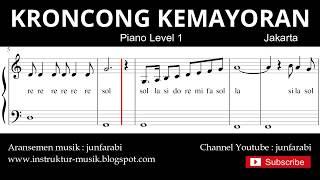 Gambar cover not balok keroncong kemayoran - piano level 1 - lagu daerah jakarta / betawi - do re mi / solmisasi