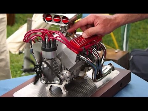 96cc V8 RC Drag Car Engine - V8 RC PART 3