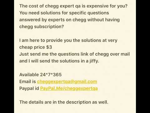 chegg homework solutions free trial