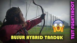 Test Flightshoot pake  busur hybrid tanduk ( Panahan horsebow )