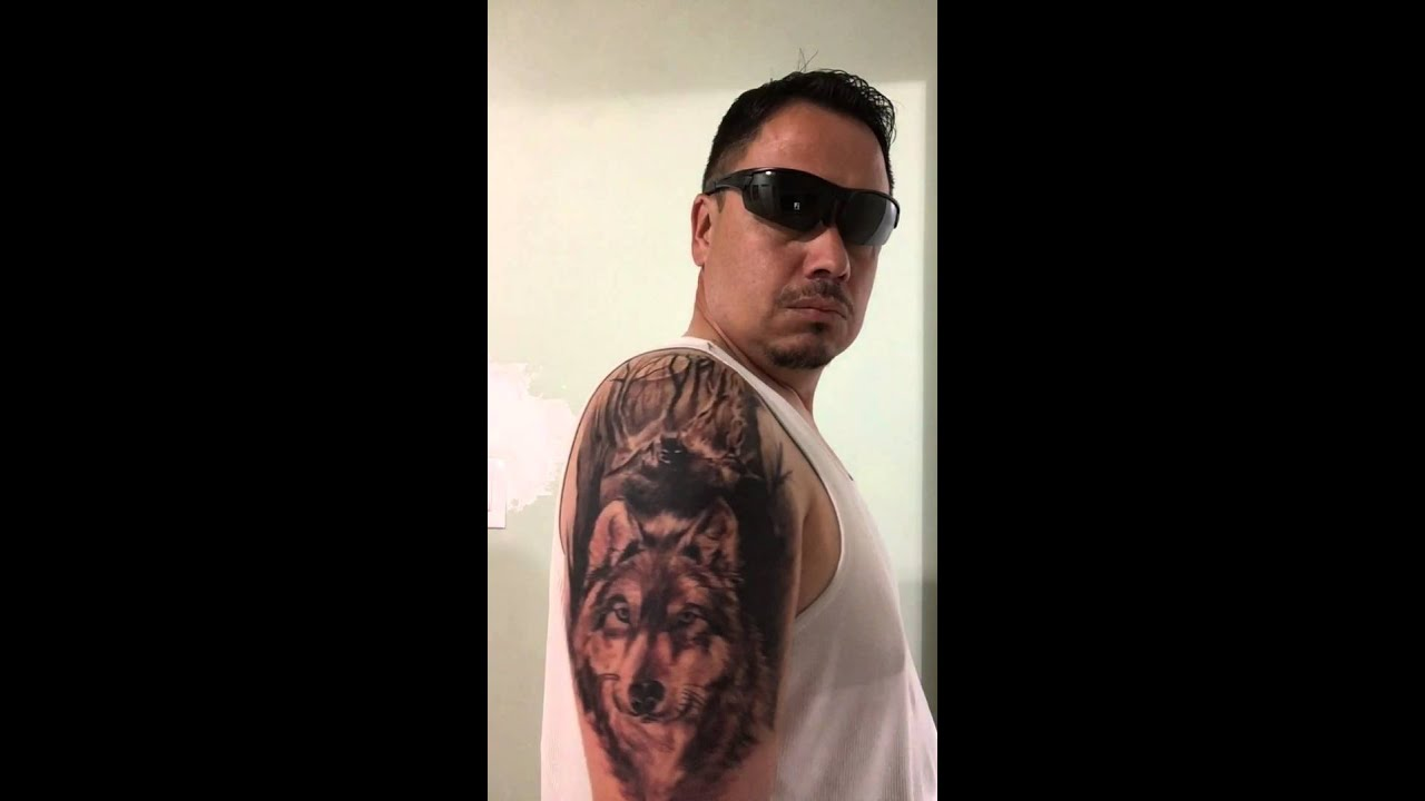 The best wolf tattoo ever done youtube for Best tattoos ever done