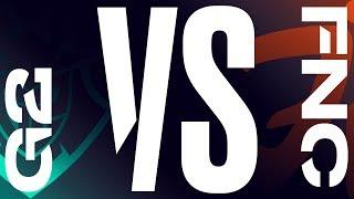 G2 vs. FNC | Final Game 1 | LEC Summer Split | G2 Esports vs. Fnatic (2019)