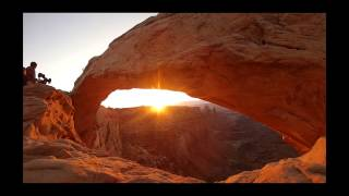 Sunrise at Mesa Arch in Canyonlands National Park, Utah - July 2014